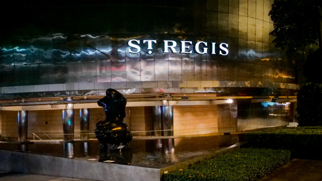St Regis Singapore at Night